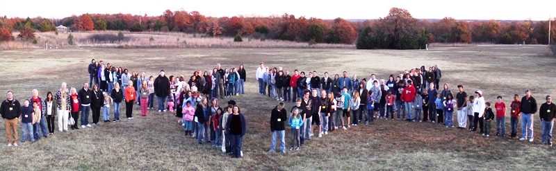 Group photo at CrossWalk Camp in Oklahoma