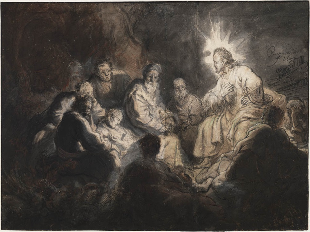 Jesus with His Disciples by Rembrandt (public domain via Wikimedia Commons)