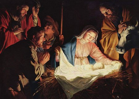 Jesus in the Manger (public doman via Wikimedia Commons)