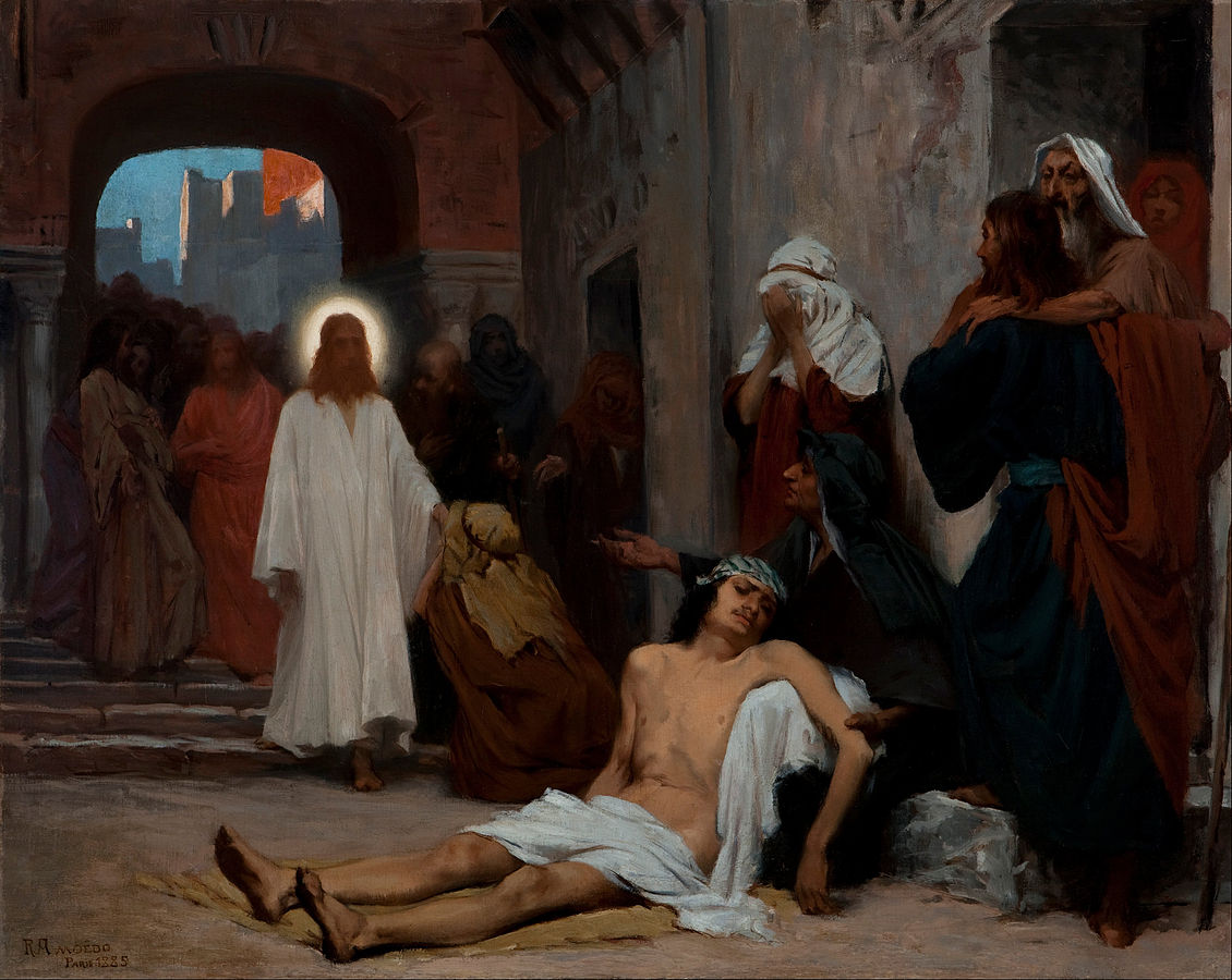 Jesus In Capernaum by Amoedo public domain via Wikimedia Commons