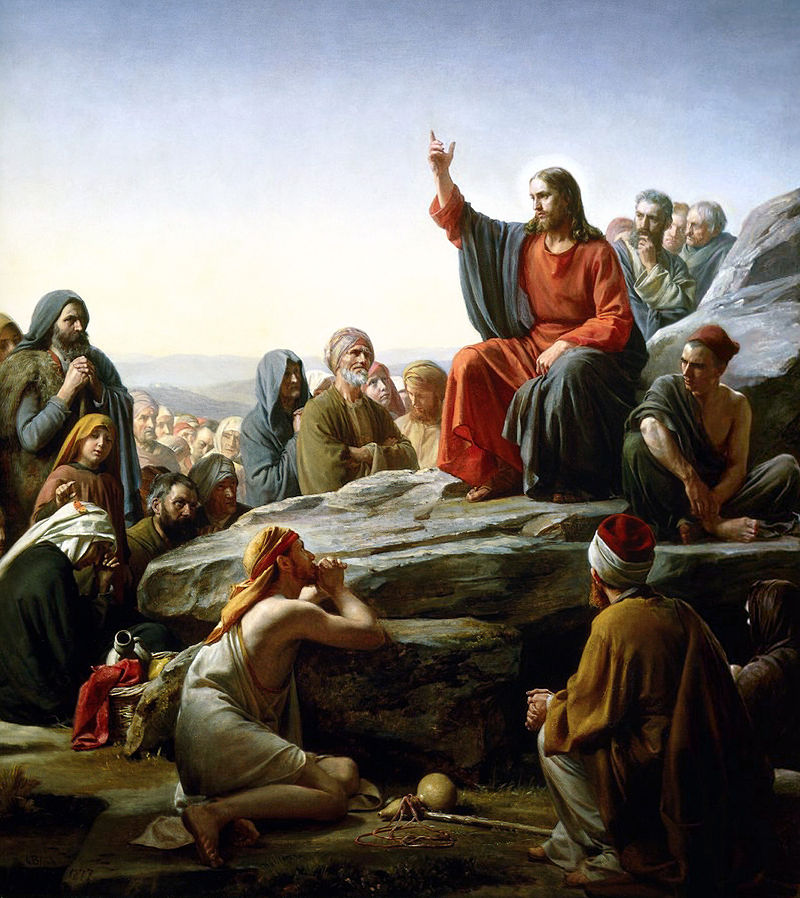 Sermon On the Mount by Bloch (public domain via Wikimedia Commons)